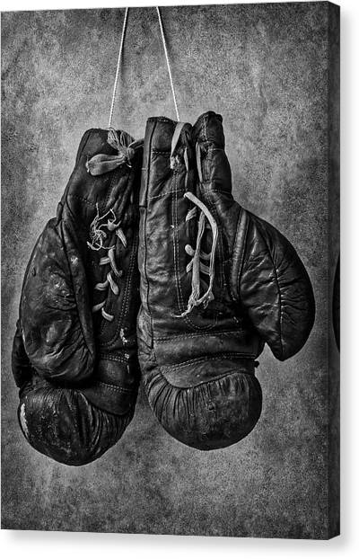Knockout Canvas Print - Worn Out Boxing Gloves by Garry Gay