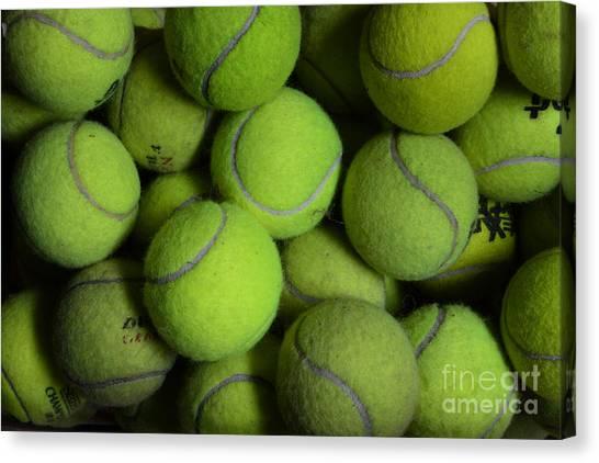 Tennis Pros Canvas Print - Worn Out Tennis Balls by Paul Ward