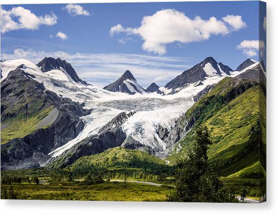 Canvas Print featuring the photograph Worthington Glacier by Claudia Abbott