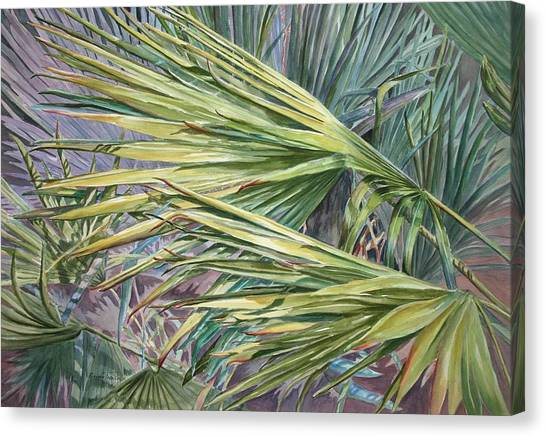Woven Fronds Canvas Print