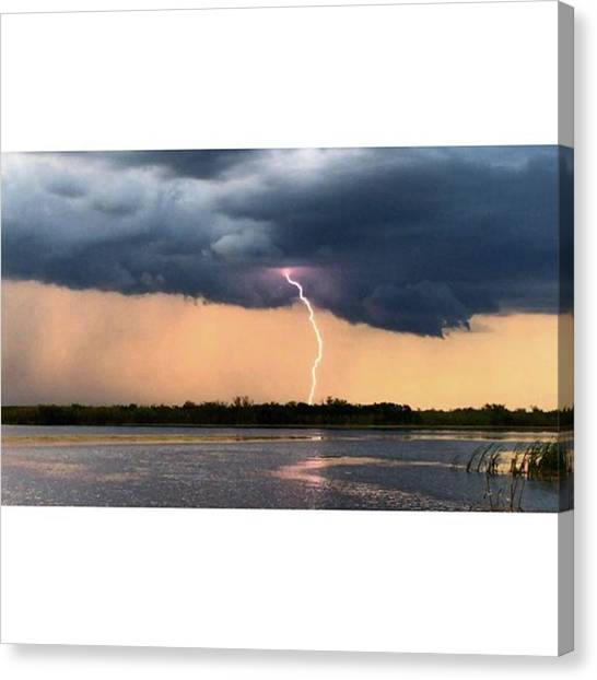 Everglades Canvas Print - Wow! #lighting #fireworks  #bliss by Erin Ryan