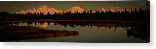 Wrangell Mountains At Sunset Canvas Print