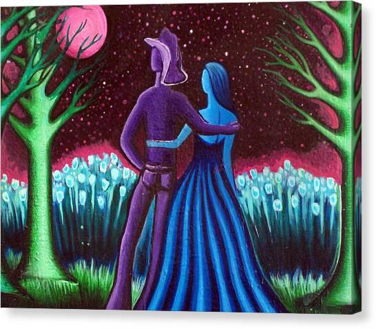 Wrangler's Moon Canvas Print by Brenda Higginson