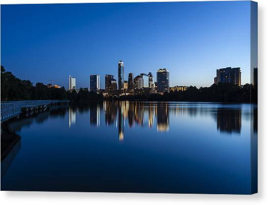 Wrapped In Blue Canvas Print