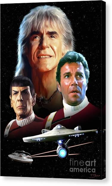 Starship Enterprise Canvas Print - Wrath Of Khan by Paul Tagliamonte