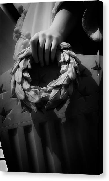 Wreath Of Victory And Shield Canvas Print