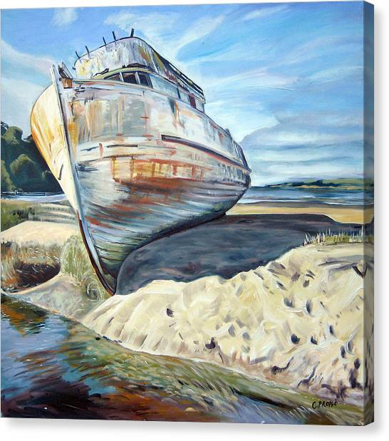 Wreck Of The Old Pt. Reyes Canvas Print by Colleen Proppe