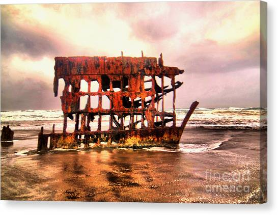 Peter Iredale Canvas Print - Wreck Of The Peter Iredale  by Jeff Swan