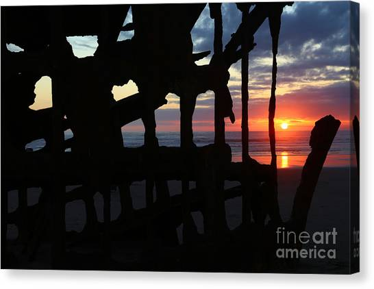 Peter Iredale Canvas Print - Wreck Of The Peter Iredale by Marty Fancy