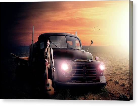 Rusty Truck Canvas Print - Wrecked  by Nathan Wright