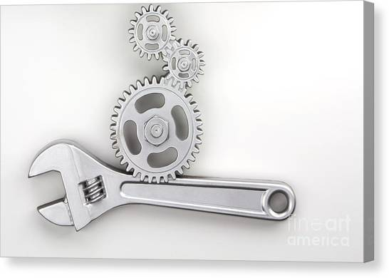 Plumber Canvas Print - Wrench by Blink Images