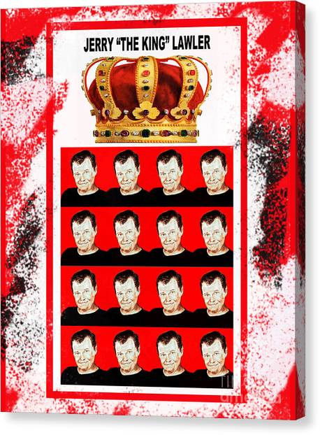 Jim Carrey Canvas Print - Wrestling Legend Jerry The King Lawler IIi by Jim Fitzpatrick
