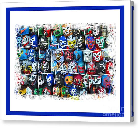 Hulk Hogan Canvas Print - Wrestling Masks Of Lucha Libre Altered IIi by Jim Fitzpatrick
