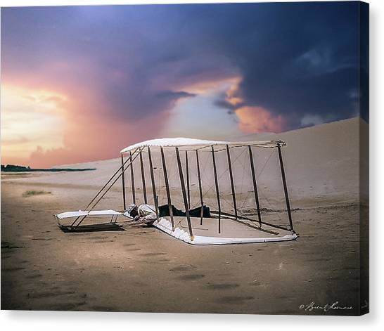 Wright Brothers Glider Canvas Print by Brent Shavnore