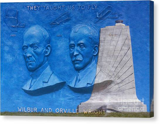 Wright Brothers Memorial Canvas Print by Randy Steele