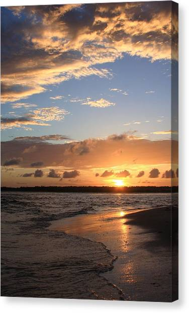 Wrightsville Beach Island Sunset Canvas Print