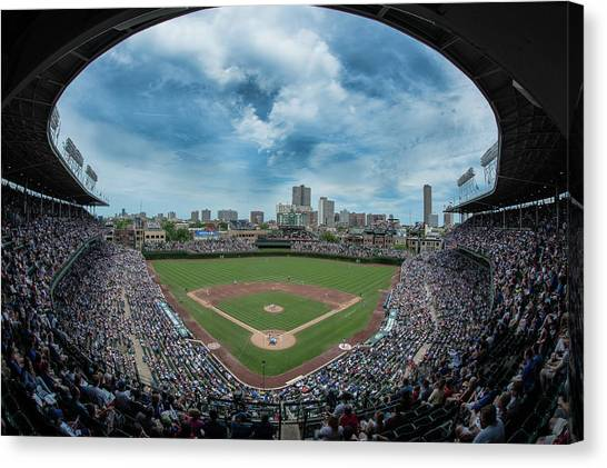 Wrigley Field Canvas Print - Wrigley Color by Greg Wyatt