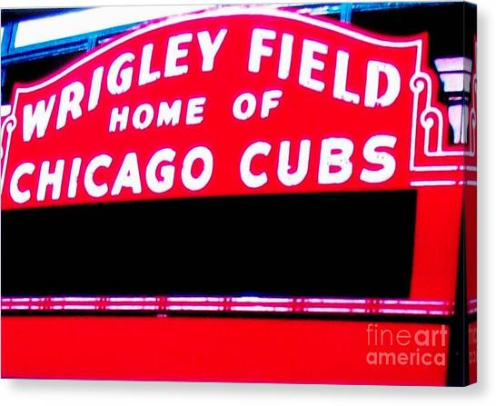 Wrigley Field Sign Canvas Print