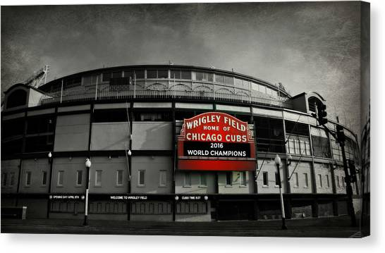 Baseball Teams Canvas Print - Wrigley Field by Stephen Stookey