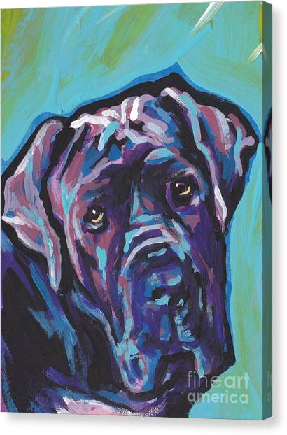 Mastiffs Canvas Print - Wrinkly Neo by Lea S