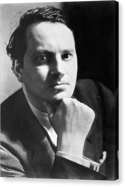 Chin Canvas Print - Writer Thomas Wolfe by Underwood Archives