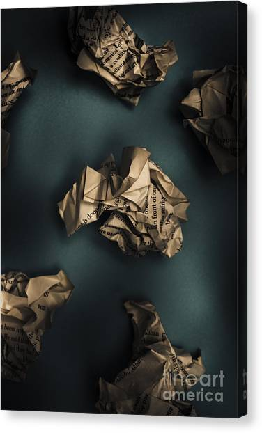 Critical Canvas Print - Writers Block by Jorgo Photography - Wall Art Gallery