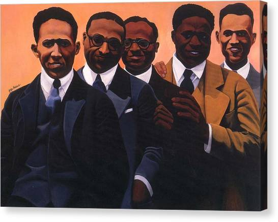 Harlem Canvas Print - Writers On The Roof by Joyce Owens