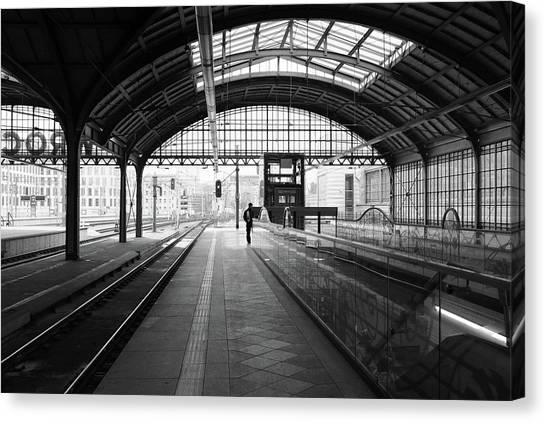 Canvas Print featuring the photograph Wroclaw Central Railways Station by Dubi Roman