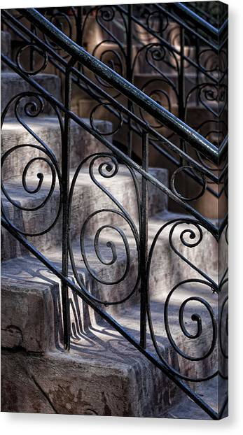 Wrought Iron Bannister  Canvas Print by Robert Ullmann