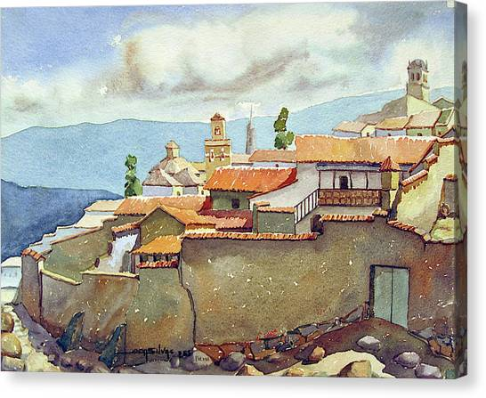 Bolivian Canvas Print - Ws1955bo001 Landscape Of Potosi 13.75x9.75 by Alfredo Da Silva
