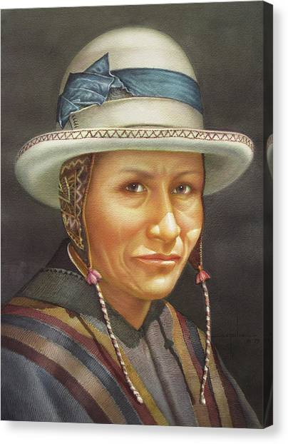 Bolivian Canvas Print - Ws1979bo008potosi Juan 14x20 by Alfredo Da Silva