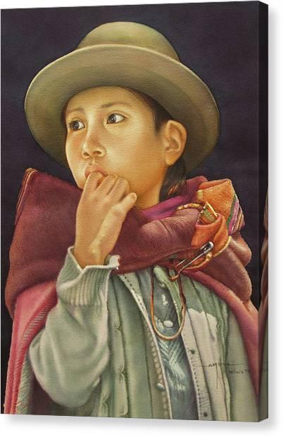 Bolivian Canvas Print - Ws1979bo010potosi Julia 14x20 by Alfredo Da Silva