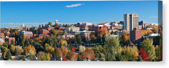 Pac 12 Canvas Print - Wsu Autumn Panorama by David Patterson