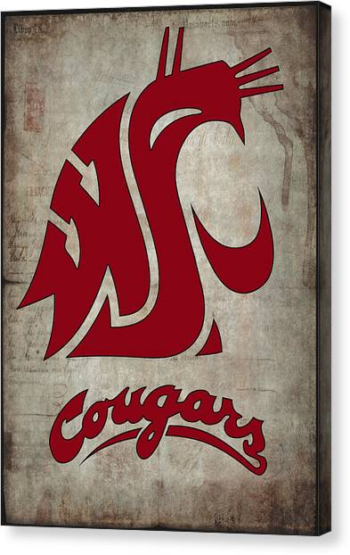 Washington State University Canvas Print - W S U Cougars by Daniel Hagerman