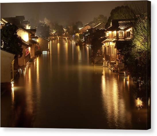China Town Canvas Print - Wuzhen - Venice Of The Far East by Andrew Soundarajan
