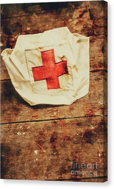 Ww2 Nurse Hat. Army Medical Corps Canvas Print