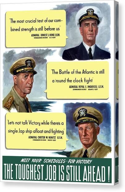 Navy Canvas Print - Ww2 Us Navy Admirals by War Is Hell Store