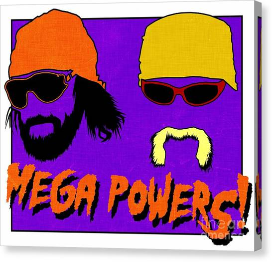 Hulk Hogan Canvas Print - Wwf -- Mega Powers by Kyle West