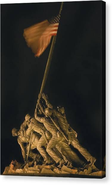Iwo Jima Remembrance Canvas Print