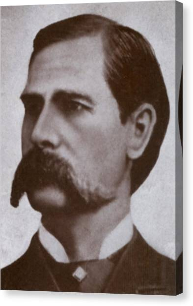 1880s Canvas Print - Wyatt Earp 1848-1929, Legendary Western by Everett