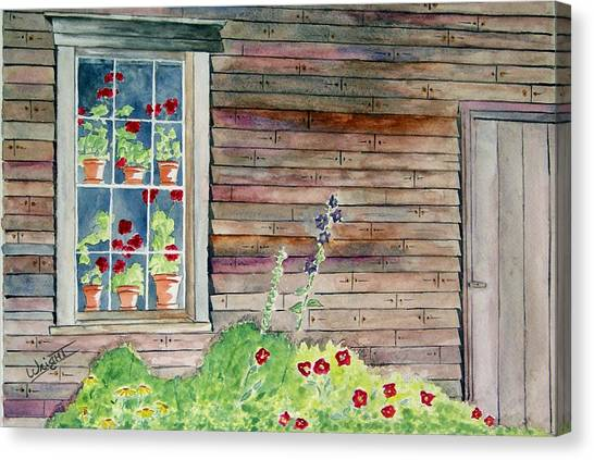 Wyeth House In Tempera Paint Canvas Print by Larry Wright