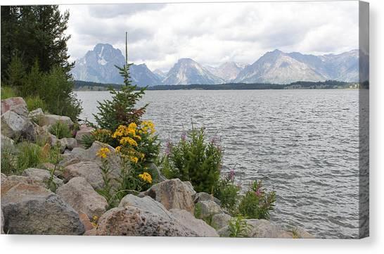Wyoming Mountains Canvas Print