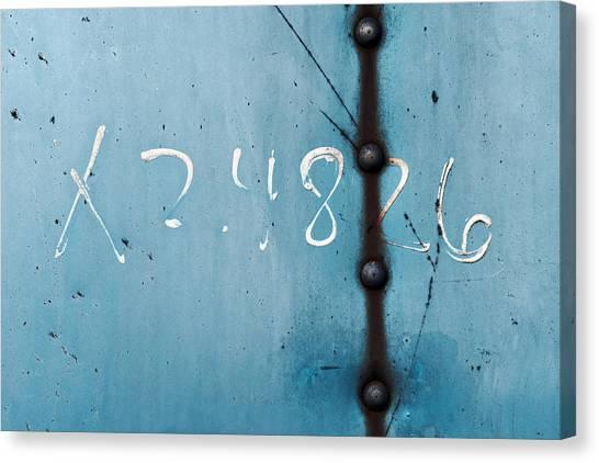 X 2.4826 ...slate Blue Canvas Print