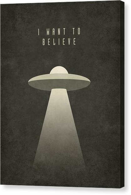 Ufo Canvas Print - X-files I Want To Believe by Ivan Krpan