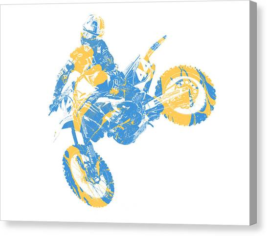 Motocross Canvas Print - X Games Motocross Pixel Art 3 by Joe Hamilton