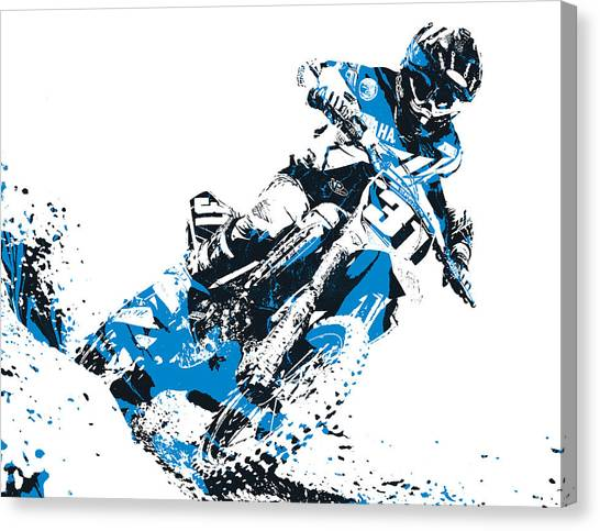 Motocross Canvas Print - X Games Motocross Pixel Art 4 by Joe Hamilton