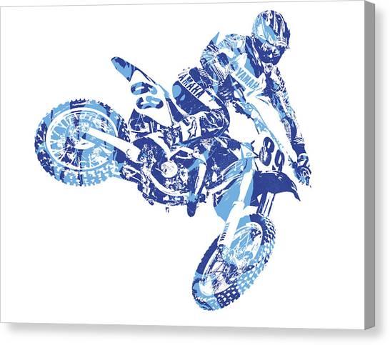 Motocross Canvas Print - X Games Motocross Pixel Art 8 by Joe Hamilton