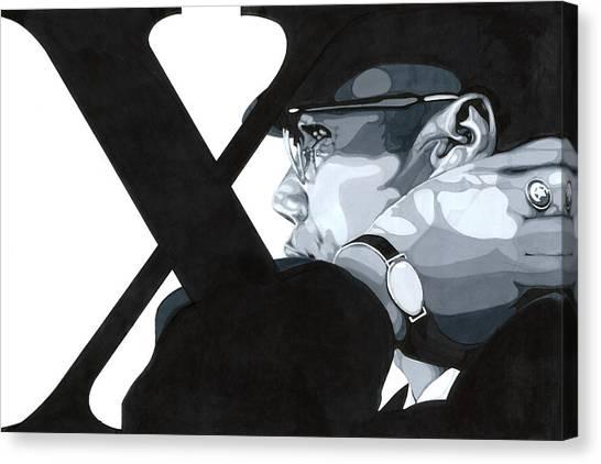 X Canvas Print by Lamark Crosby