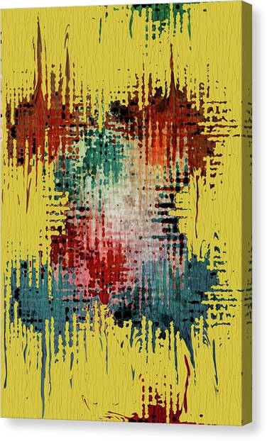 Mixed-media Canvas Print - X Marks The Spot by Bonnie Bruno