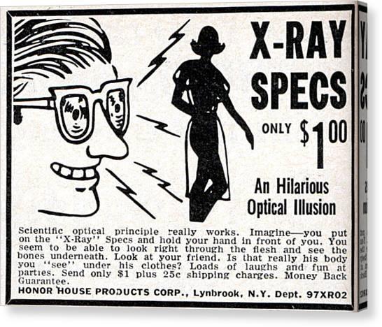 X-ray Specs $1.00 Canvas Print